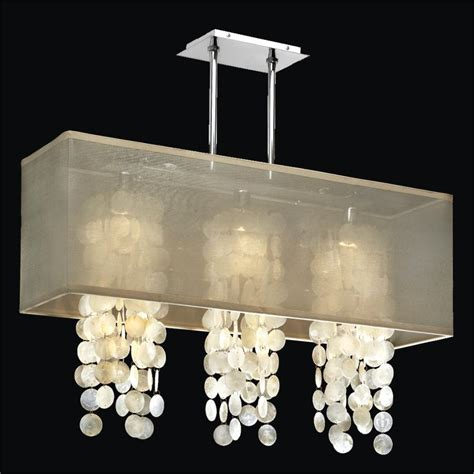 rectangular shade chandelier capiz shell chandelier