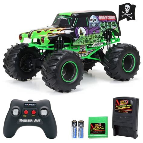 grave digger radio control monster truck new bright full function rc monster jam grave digger 1 6