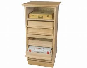Meuble De Rangement Bas : meuble de rangement au sol bas et profond 3 tiroirs ~ Dailycaller-alerts.com Idées de Décoration