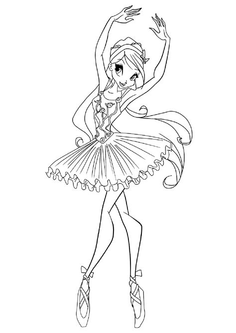 ballerina coloring pages  childrens printable