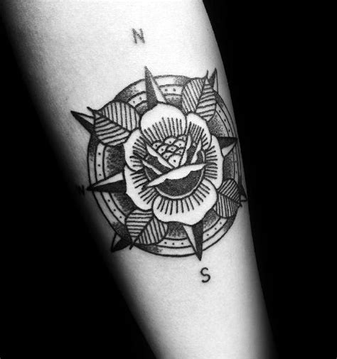 Small Compass Tattoo Ideas for Men