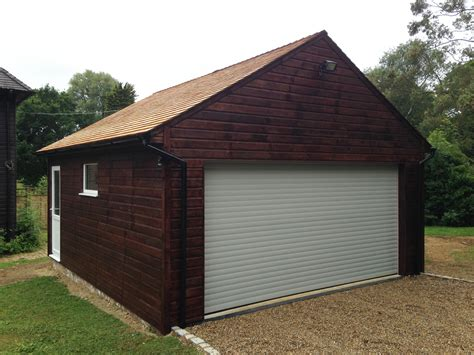 Double Garage : Stained Double Garage-colt Houses