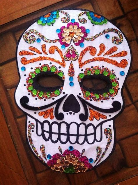 Máscara de calavera Máscara de calavera Calaveras y Dia