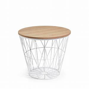 Table D Appoint : table d 39 appoint en m tal et bois naturel isa by drawer ~ Teatrodelosmanantiales.com Idées de Décoration