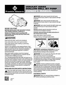 Wayne Jet Pump Water Systems Shallow Well Owner S Manual