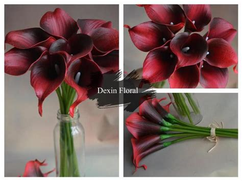30 Colors!! Natural Real Touch Flowers Picasso Purple