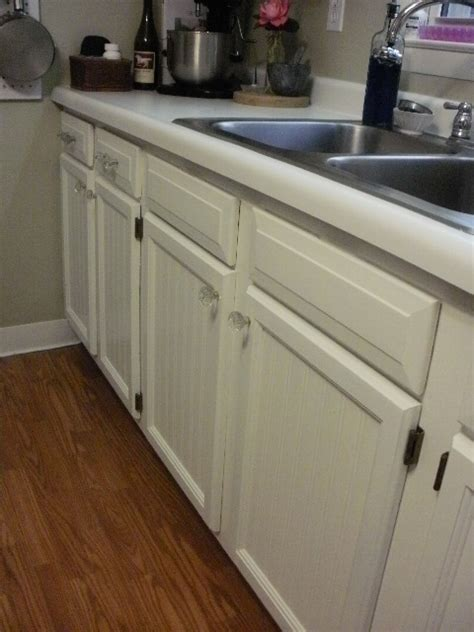 beadboard wallpaper kitchen cabinets look what happened to my kitchen in two days hometalk 4377