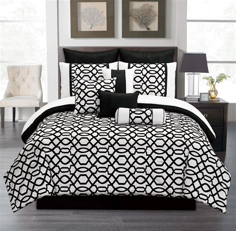 Black And White Bedding Set by Black And White Comforter Sets King Pictures To Pin On