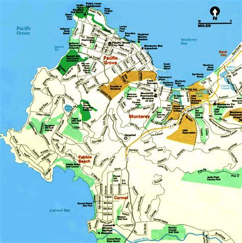 Monterey Map Travelsfinderscom