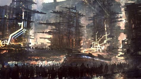 sci fi futuristic city cities art artwork wallpapers
