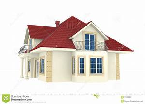 3d House Isolated On White Background Stock Illustration ...