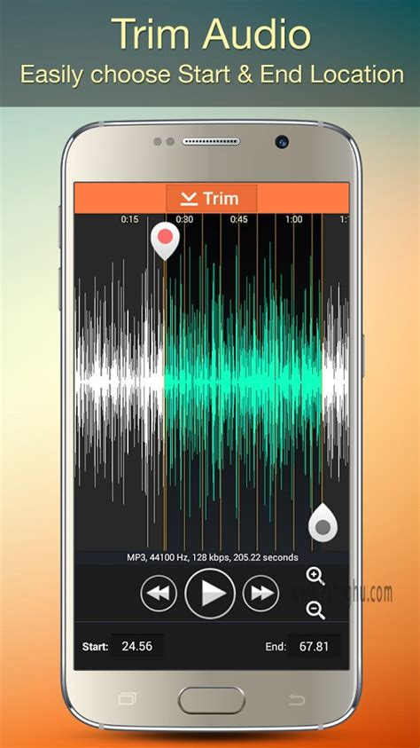 نرم افزار برش و تنظیم موزیک برای اندروید audio mp3 cutter mix converter 1 81