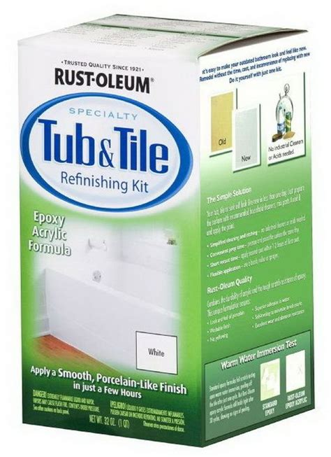 easy diy bathtub refinishing and tile kit 2 part epoxy kit