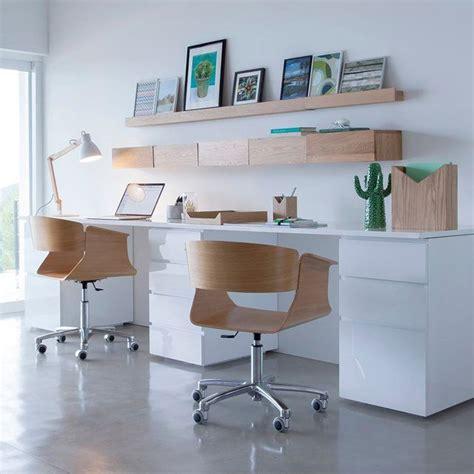 bureau plus ca bureau pour la maison blanc et bois décoration