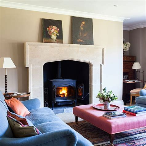 Country Living Room Ideas With Fireplace by Country Sitting Room With Fireplace Country Living