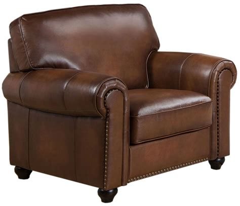 royale camel brown leather arm chair c9755c2839ls amax