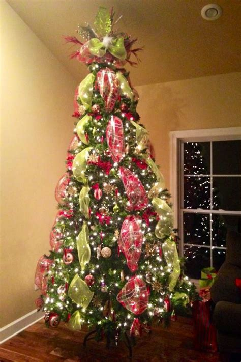 decorating with mesh ribbon for christmas tree deco mesh tree topper beautiful and