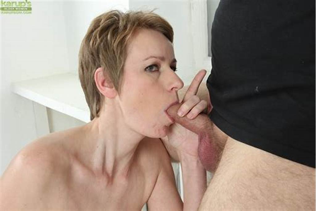#Short #Haired #Older #Woman #Sweet #Nensy #Deepthroating #Cock