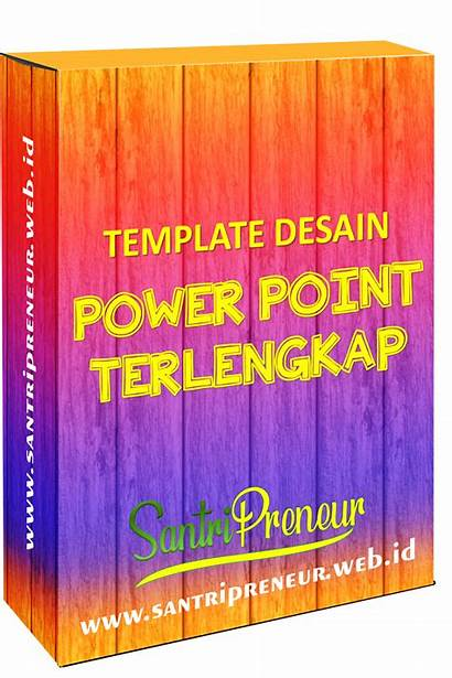 Template Desain Power Santripreneur Point Promosi Ppt