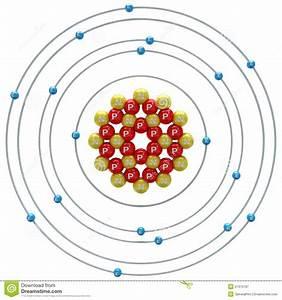 Argon Atom On A White Background Stock Illustration
