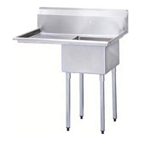prep sinks with drainboards turbo air tsa 1 12 l1 40 quot one compartment prep sink w