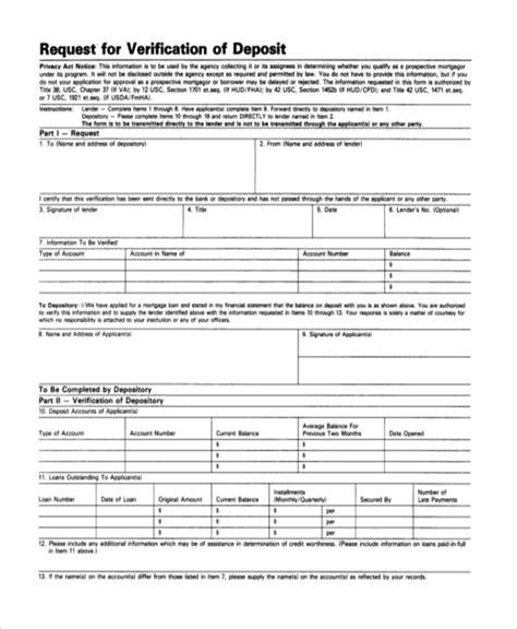 sample deposit forms