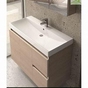 Meuble Vasque à Poser : vasque poser sur un meuble de bain 60x46x13 5 cm en c ramique ~ Teatrodelosmanantiales.com Idées de Décoration