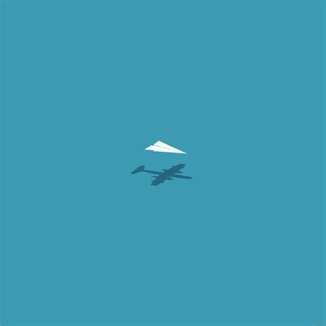 af rc plane minimal blue art illust cute papersco