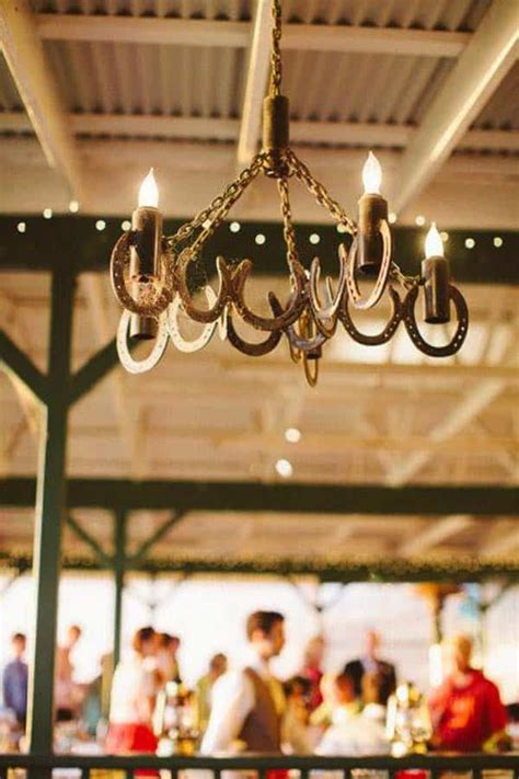 Horseshoe Chandelier by 31 Epic Horseshoe Crafts To Consider In A Vibrant Rustic Decor
