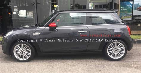 sewa kereta luxury mini cooper   turbo   grey  selangor