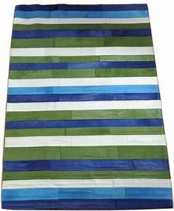 Teppich Bunt Gestreift : exklusiver kuhfell teppich bunt gestreift 120 x 180 cm bei kuhfelle online ~ Frokenaadalensverden.com Haus und Dekorationen