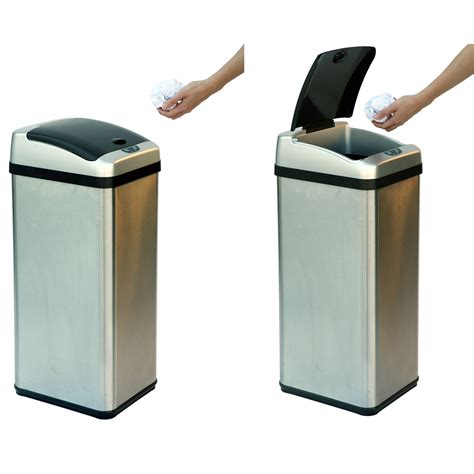 13 Gallon Stainless Steel Extra Wide Automatic Trash Can