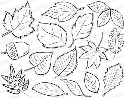 articulos similares  otono hojas digital sellos clipart