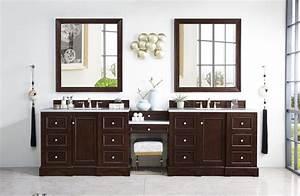 118, U0026quot, De, Soto, Burnished, Mahogany, Double, Sink, Bathroom, Vanity