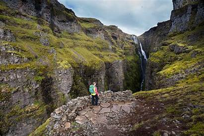 Iceland Waterfall Glymur Highest Hiking Fjords Second