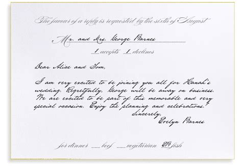 rsvp cards for weddings wording rsvp etiquette traditional favor dinner options filled out