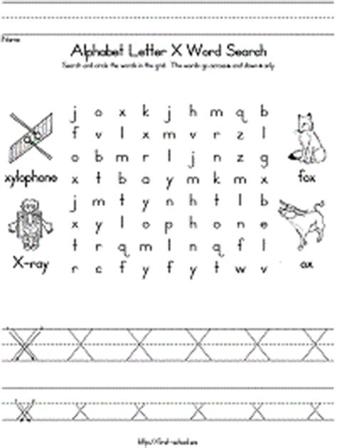 four letter x words letter x word search for preschool kindergarten and early 21821