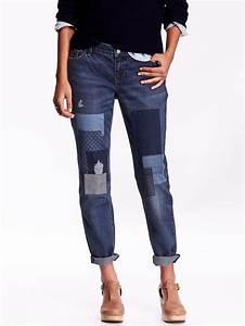 Old Navy Boyfriend Skinny Ankle Patchwork Jeans - ShopStyle Denim