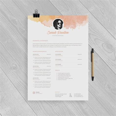 creative resume template instant  cover letter