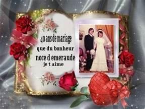 40 ans de mariage noce de demain nous fetons nos 40 ans de mariage noce d emeraude jai trois gremouille casandra