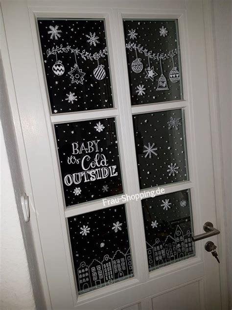 Weihnachtsdeko Fenster Kreidemarker by Weihnachtliche Fensterbilder Mit Kreidestift