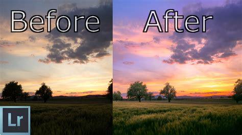 lightroom tutorial create amazing sunsets  depth