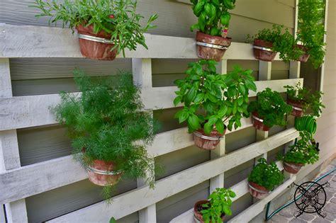 Vertical Herb Garden Design by Vertical Pallet Herb Garden Jenron Designs