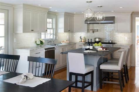 light gray kitchen cabinets transitional kitchen