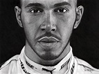 Lewis Hamilton portrait 1/1 - Officially Signed
