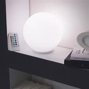 Lampe Boule à Poser : lampe boule blanche poser le design led ~ Dailycaller-alerts.com Idées de Décoration