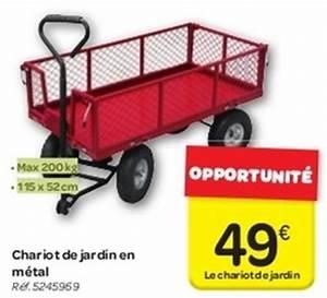 Chariot De Jardin Carrefour : carrefour promotion chariot de jardin en m tal produit ~ Dailycaller-alerts.com Idées de Décoration