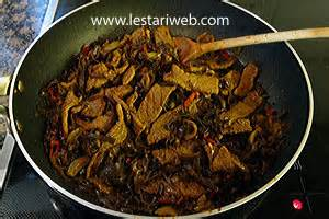 Tawaran Dari Mi Jamur kumpulan resep asli indonesia tumis daging jamur