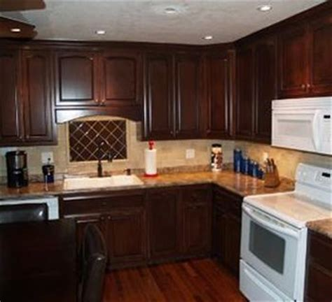 rich mahogany cabinets kitchen remodel pinterest