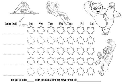 behavior charts    colored